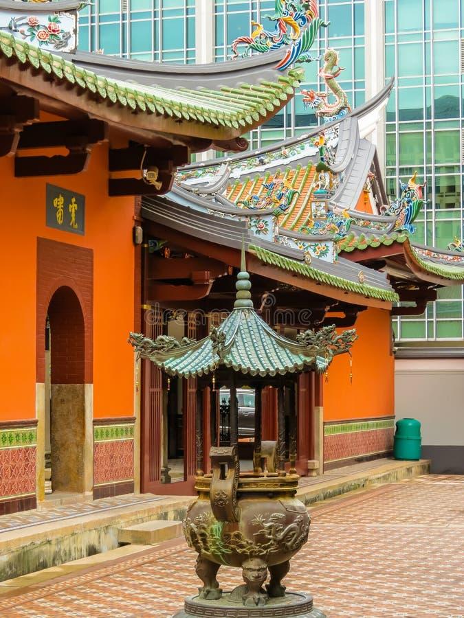 Κινεζικός βουδιστικός ναός στη Σιγκαπούρη στοκ εικόνες