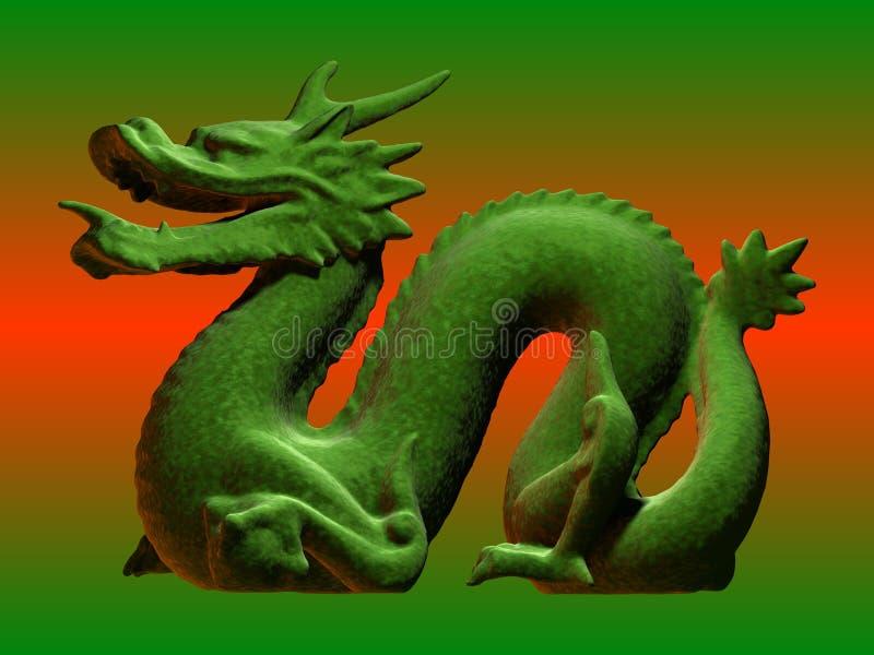 κινεζικός δράκος πράσινο& στοκ φωτογραφία με δικαίωμα ελεύθερης χρήσης