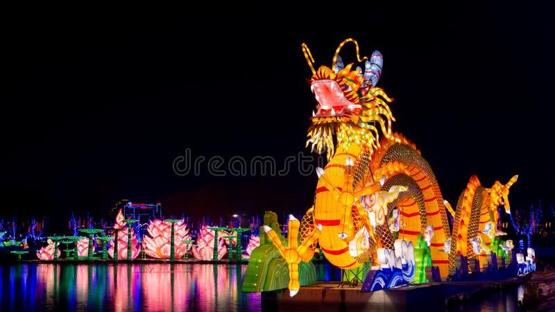 Κινεζικός δράκος τοτέμ στοκ φωτογραφία