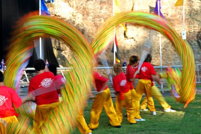 κινεζικός δράκος χορευτών στοκ φωτογραφία με δικαίωμα ελεύθερης χρήσης
