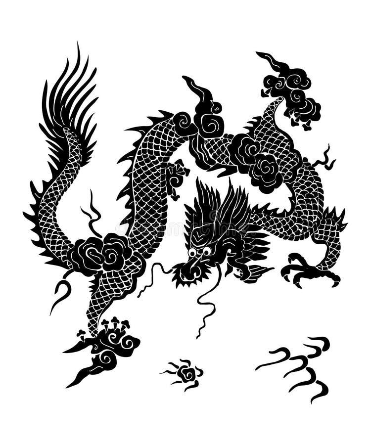 Κινεζικός δράκος διανυσματική απεικόνιση