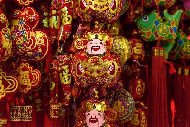 Κινεζικός Θεός των διακοσμήσεων τύχης στοκ εικόνες