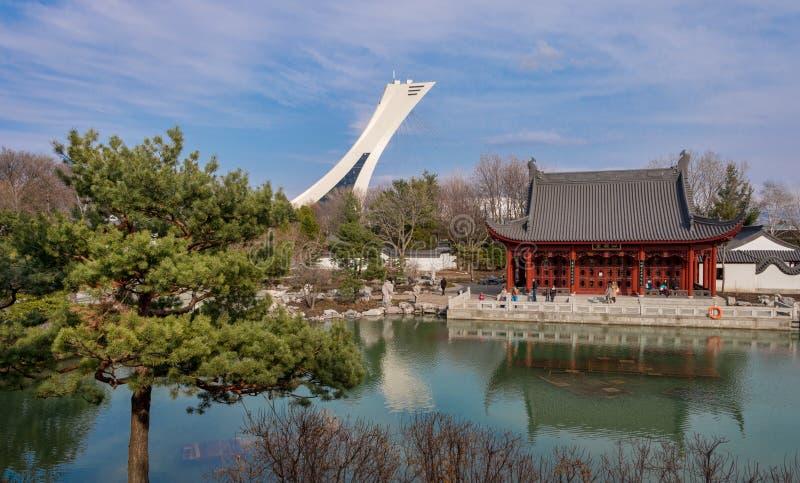 Κινεζικός κήπος του βοτανικού κήπου του Μόντρεαλ στοκ φωτογραφίες