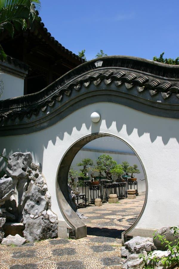 κινεζικός κύκλος πορτών στοκ φωτογραφία