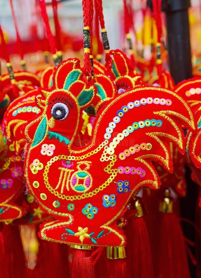 Κινεζικός νέος τυχερός κόκκορας έτους στοκ εικόνα με δικαίωμα ελεύθερης χρήσης