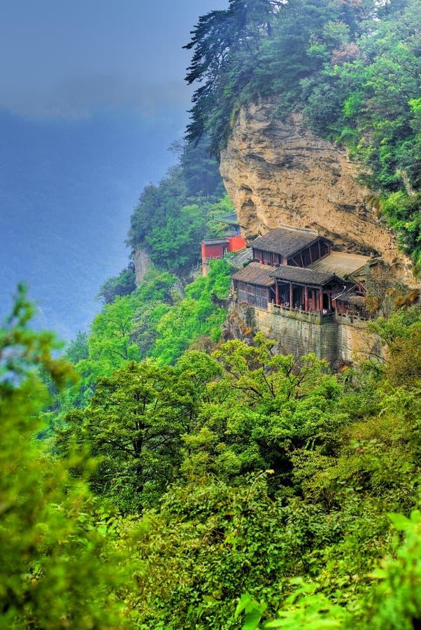 κινεζικός ναός βουνών στοκ φωτογραφία