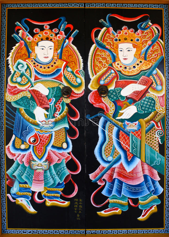 κινεζικός ναός ζωγραφική&si στοκ φωτογραφία με δικαίωμα ελεύθερης χρήσης