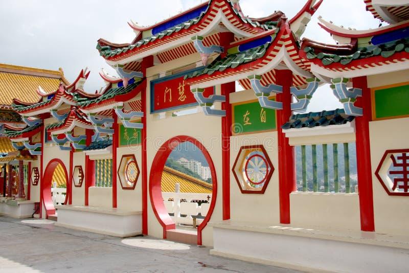 κινεζικός ναός πυλών στοκ εικόνα με δικαίωμα ελεύθερης χρήσης