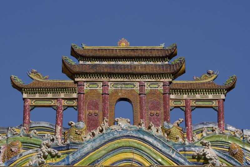 κινεζικός ναός στεγών στοκ εικόνα με δικαίωμα ελεύθερης χρήσης