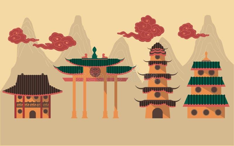 κινεζικός ναός διανυσματική απεικόνιση