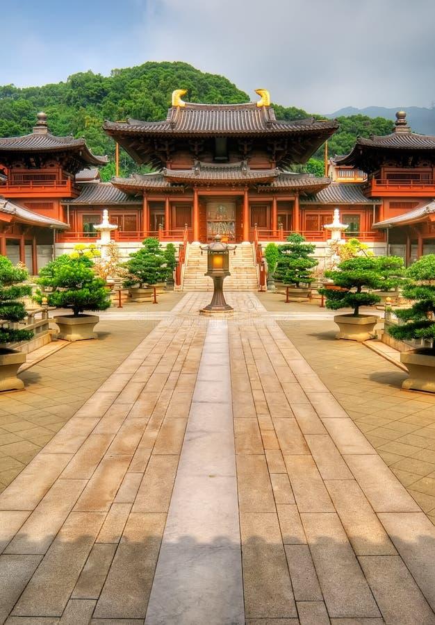κινεζικός οδικός ναός λα στοκ εικόνα με δικαίωμα ελεύθερης χρήσης