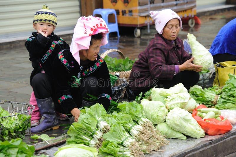 κινεζικός πλανόδιος πωλητής miao στοκ εικόνες