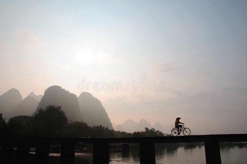 κινεζικός ποδηλάτης στοκ εικόνες