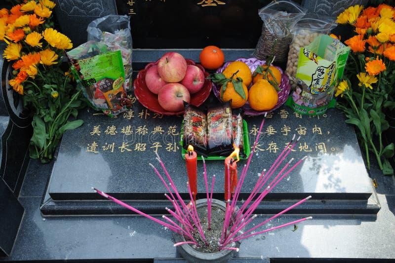 κινεζικός σκουπίζοντας τάφος στοκ εικόνα