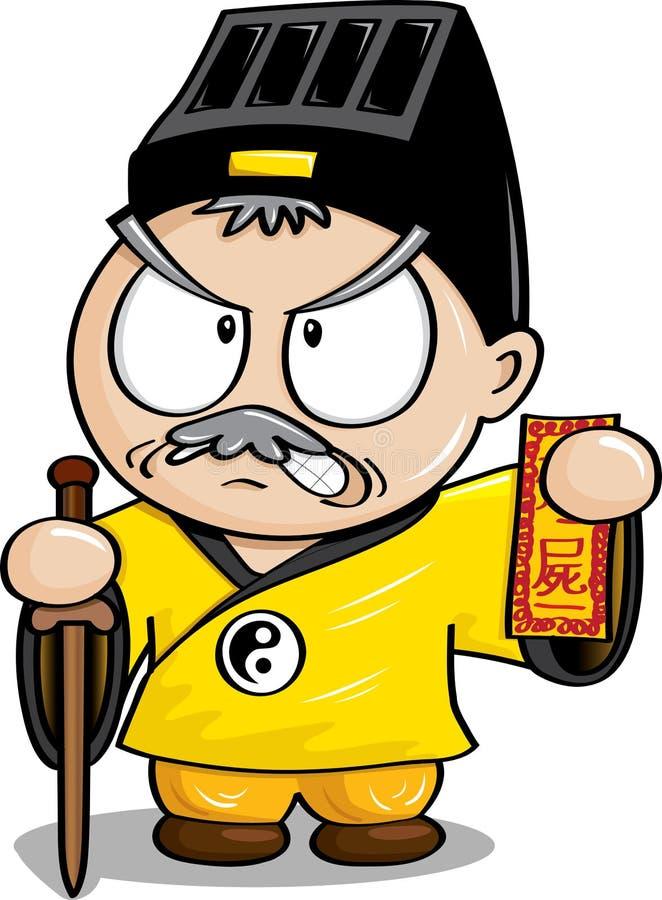 Κινεζικός ταοϊστικός ιερέας απεικόνιση αποθεμάτων