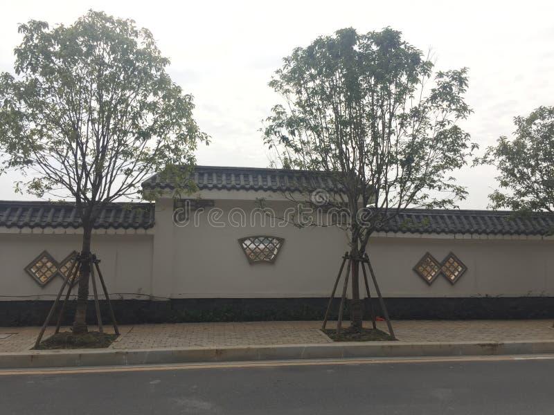 κινεζικός τοίχος ύφους στοκ φωτογραφίες
