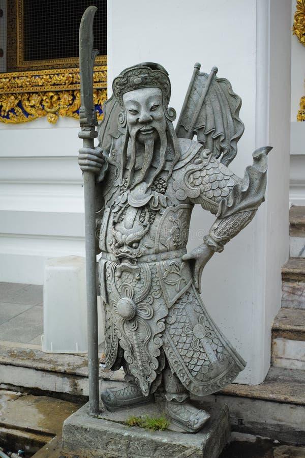 Κινεζικός φύλακας πετρών Pho Wat, Μπανγκόκ, Ταϊλάνδη στοκ εικόνα