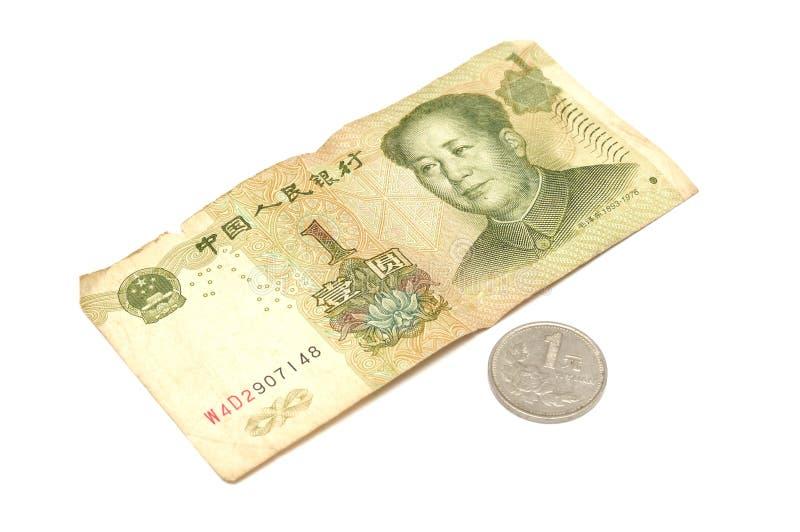 Κινεζικός χαρτονόμισμα και νόμισμα δολαρίων στοκ εικόνες με δικαίωμα ελεύθερης χρήσης