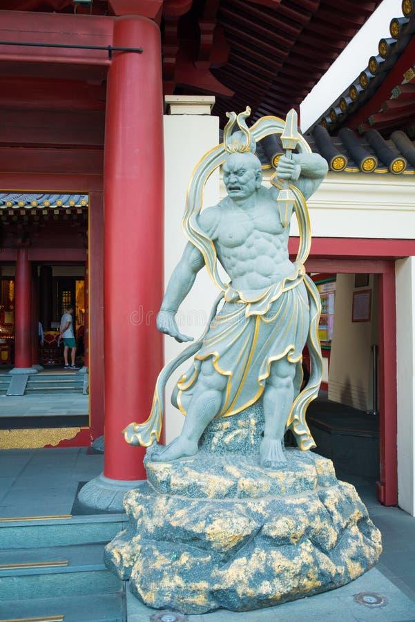 Κινεζικό άγαλμα Θεών στο ναό λειψάνων δοντιών του Βούδα και μουσείο στο Γ στοκ εικόνα με δικαίωμα ελεύθερης χρήσης