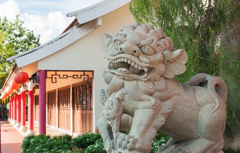 κινεζικό άγαλμα λιονταριών στοκ φωτογραφία