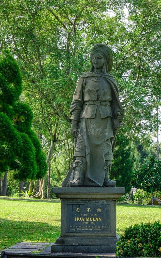 Κινεζικό άγαλμα πετρών στη Σιγκαπούρη στοκ φωτογραφία με δικαίωμα ελεύθερης χρήσης