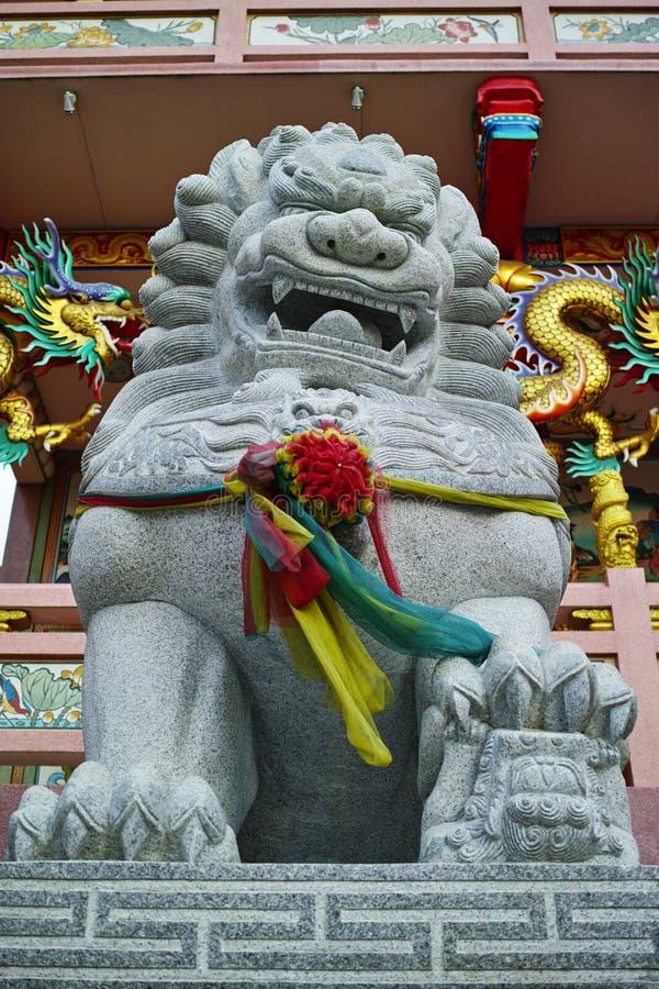 κινεζικό άγαλμα λιονταριών στοκ φωτογραφία με δικαίωμα ελεύθερης χρήσης