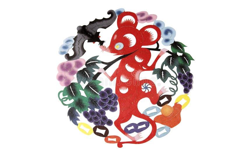κινεζικό έγγραφο αποκοπών υφασμάτων τέχνης διανυσματική απεικόνιση
