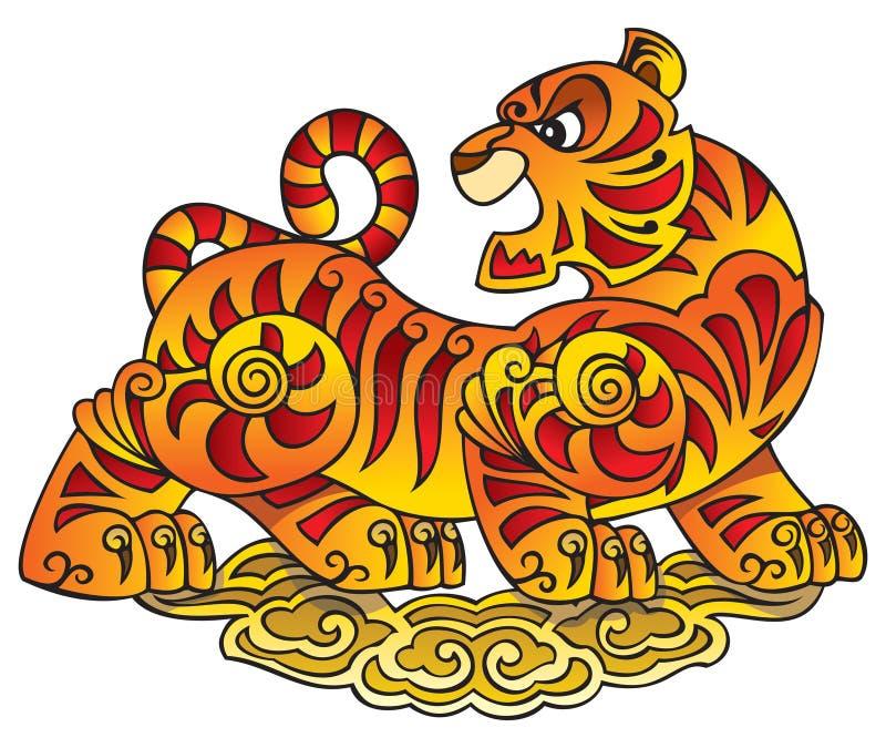 κινεζικό έτος τιγρών συμβό&la διανυσματική απεικόνιση