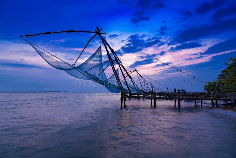 κινεζικό δίχτυ του ψαρέμα&t στοκ φωτογραφία