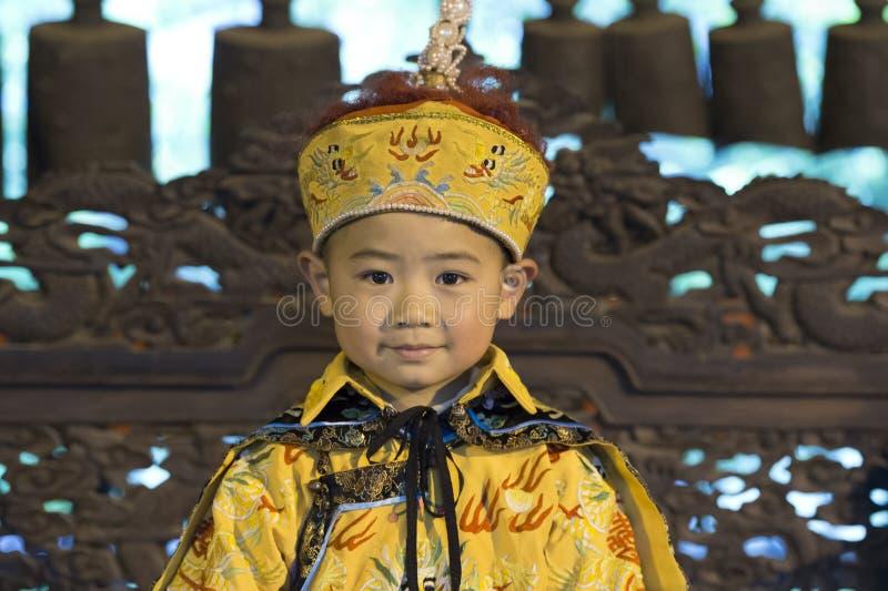 Κινεζικό αγόρι ως αυτοκράτορα στοκ φωτογραφία με δικαίωμα ελεύθερης χρήσης