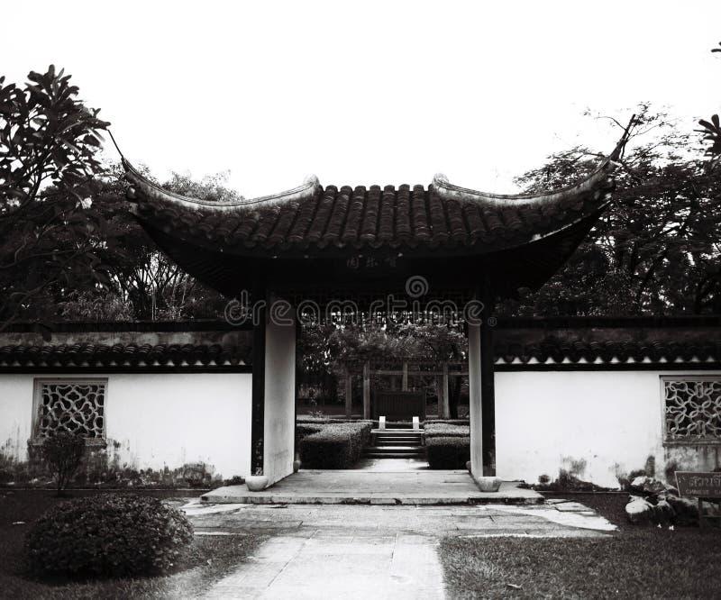 Κινεζικό αναδρομικό ύφος πάρκων στοκ φωτογραφία