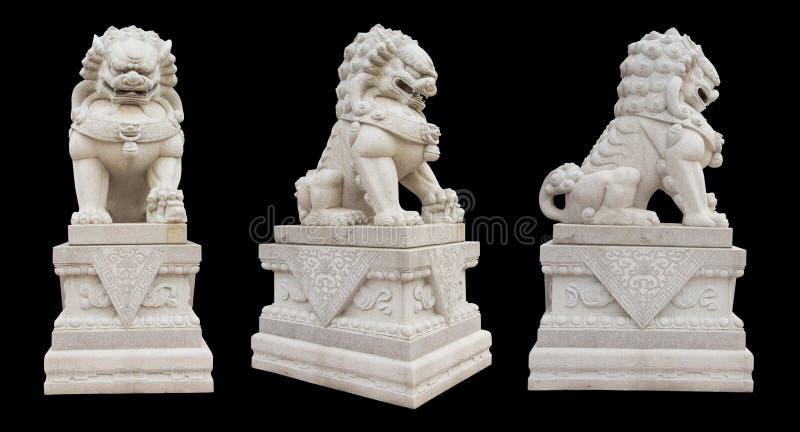 κινεζικό αυτοκρατορικό άγαλμα λιονταριών στοκ εικόνες με δικαίωμα ελεύθερης χρήσης