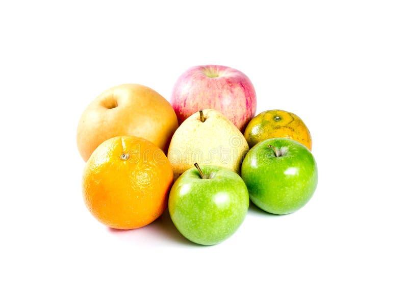 Κινεζικό αχλάδι, μήλο, πορτοκάλι στοκ εικόνες