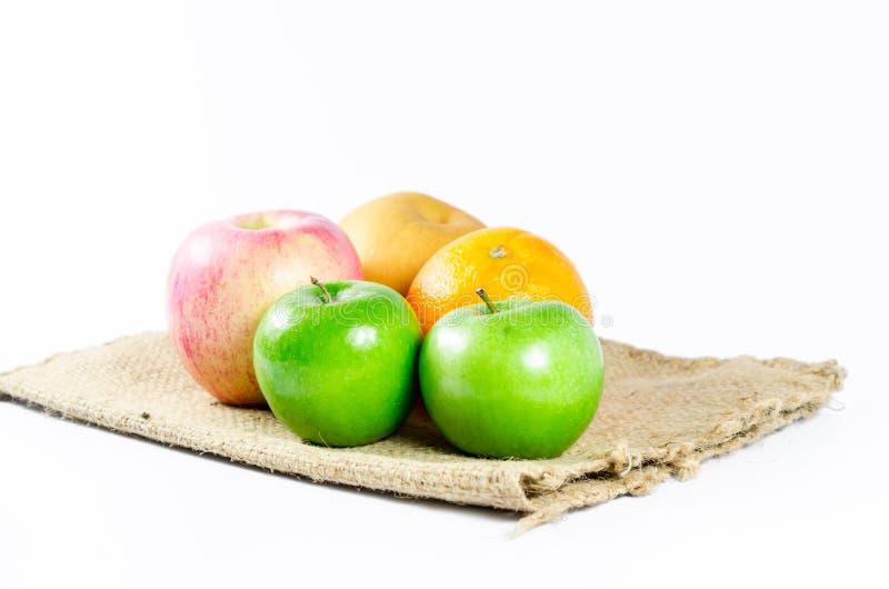 Κινεζικό αχλάδι, μήλο, πορτοκάλι στοκ φωτογραφίες