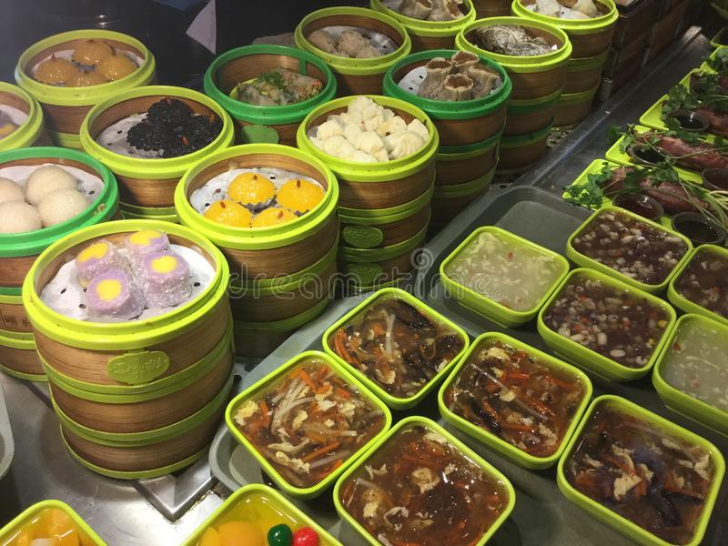 Κινεζικό γρήγορο φαγητό Σαγγάη μπουφέδων στοκ εικόνες με δικαίωμα ελεύθερης χρήσης