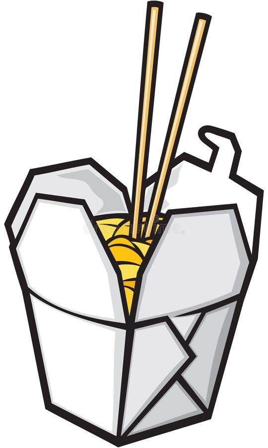 κινεζικό γρήγορο φαγητό διανυσματική απεικόνιση