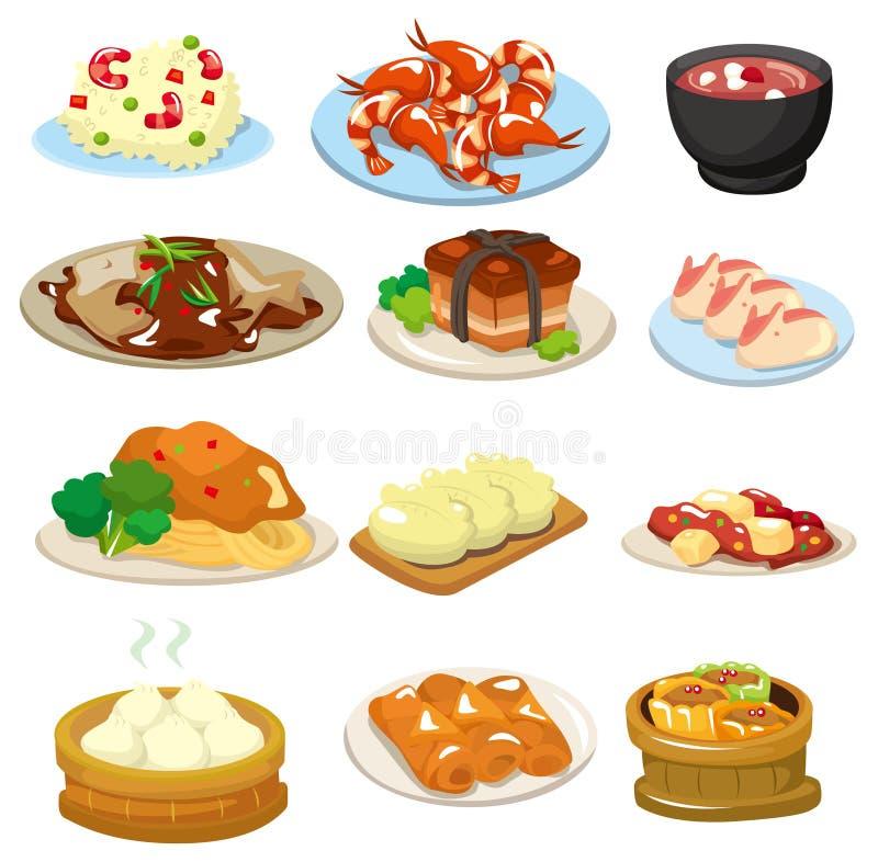 κινεζικό εικονίδιο τροφ ελεύθερη απεικόνιση δικαιώματος