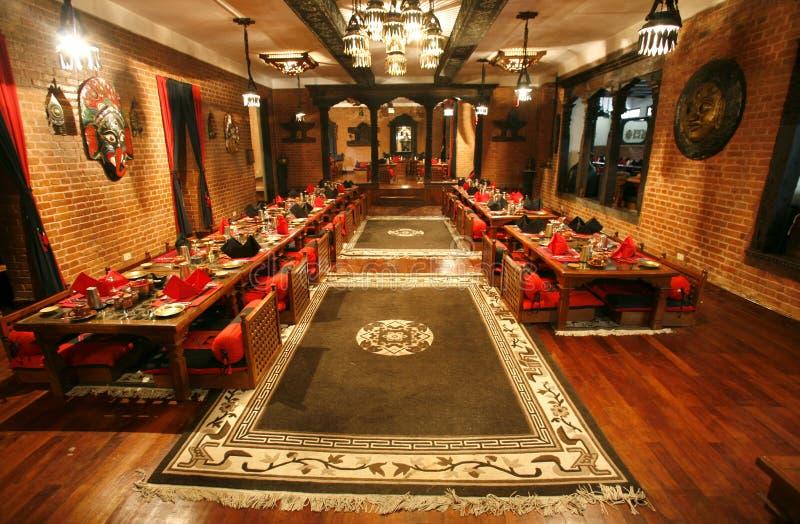 κινεζικό εστιατόριο τραπεζαριών στοκ φωτογραφίες