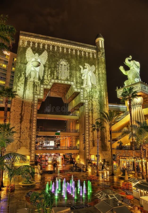 Κινεζικό θέατρο Λος Άντζελες τη νύχτα στοκ εικόνες