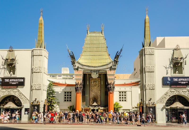 Κινεζικό θέατρο στη λεωφόρο Hollywood, Λος Άντζελες στοκ εικόνες