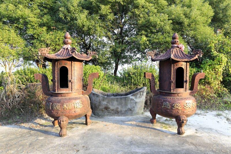 κινεζικό θυμίαμα καυστήρ&o στοκ φωτογραφία