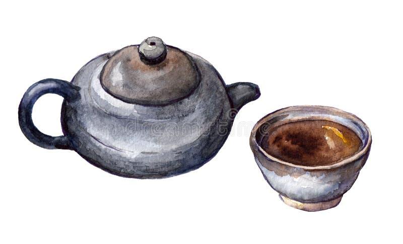κινεζικό καθορισμένο τσά&io διανυσματική απεικόνιση