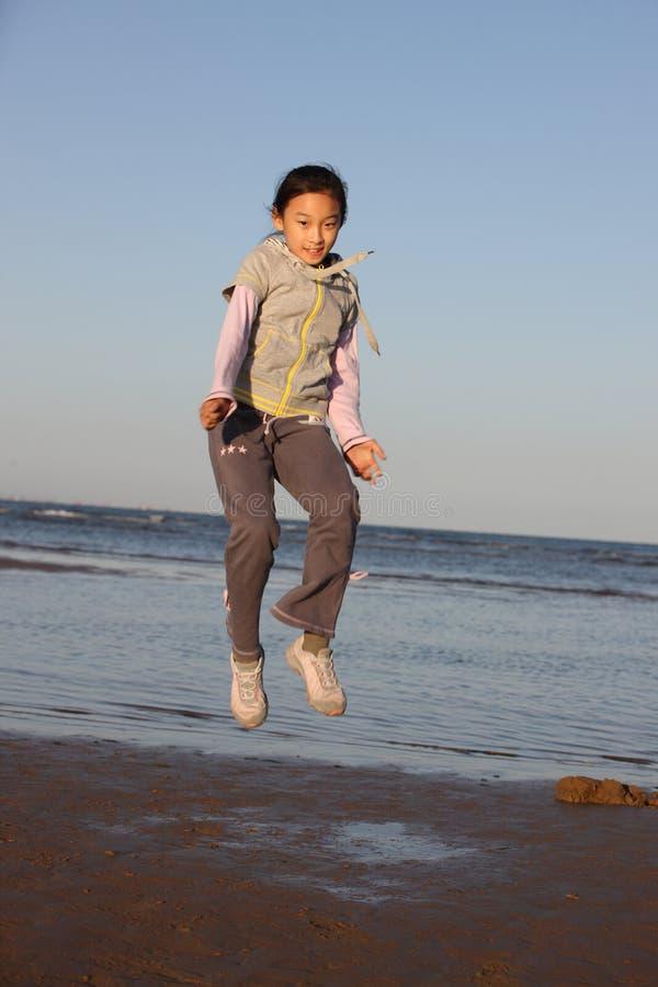 κινεζικό κορίτσι παραλιών στοκ φωτογραφία