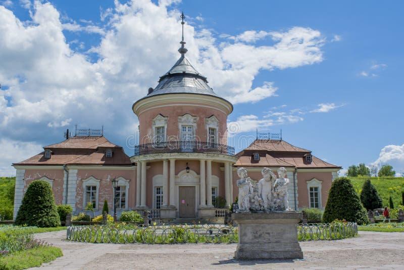 Κινεζικό κτήριο παλατιών που βρίσκεται στην περιοχή κάστρων Zolochiv στοκ εικόνα