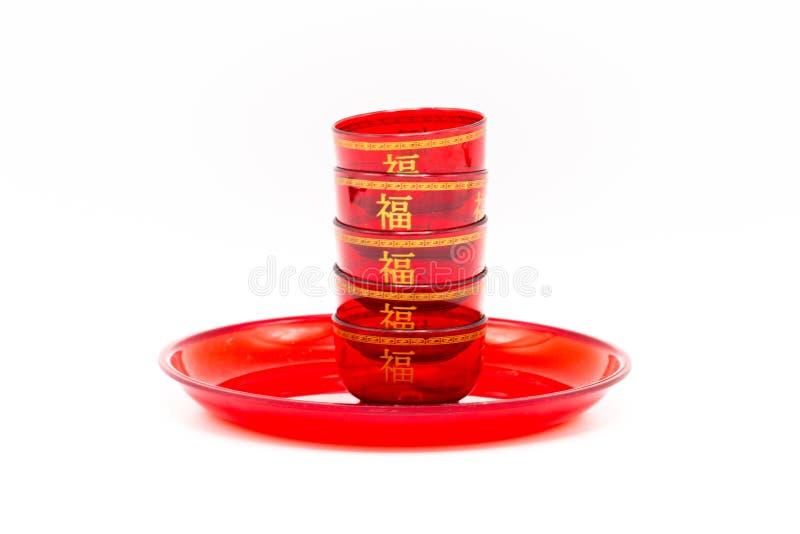 Κινεζικό κόκκινο τσάι Cupisolated κινηματογραφήσεων σε πρώτο πλάνο στο άσπρο υπόβαθρο Τσακώνει στοκ εικόνες με δικαίωμα ελεύθερης χρήσης