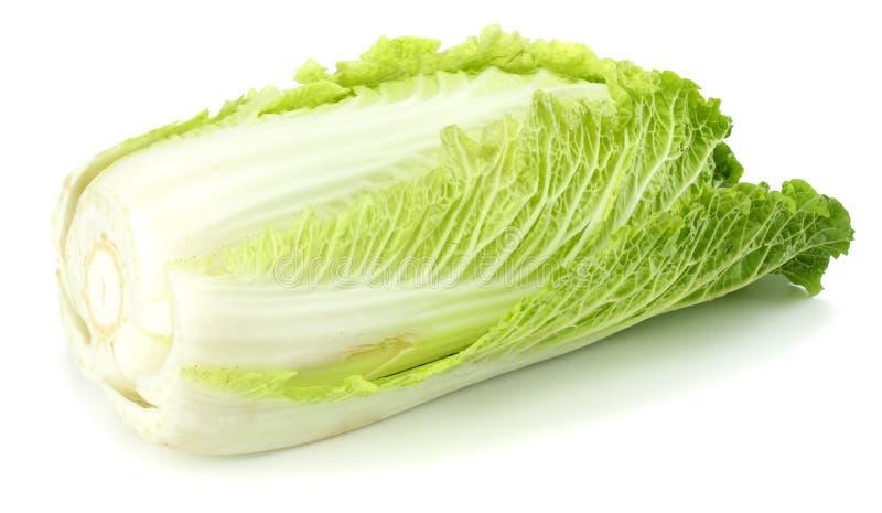 Κινεζικό λάχανο που απομονώνεται σε ένα άσπρο υπόβαθρο στοκ εικόνα