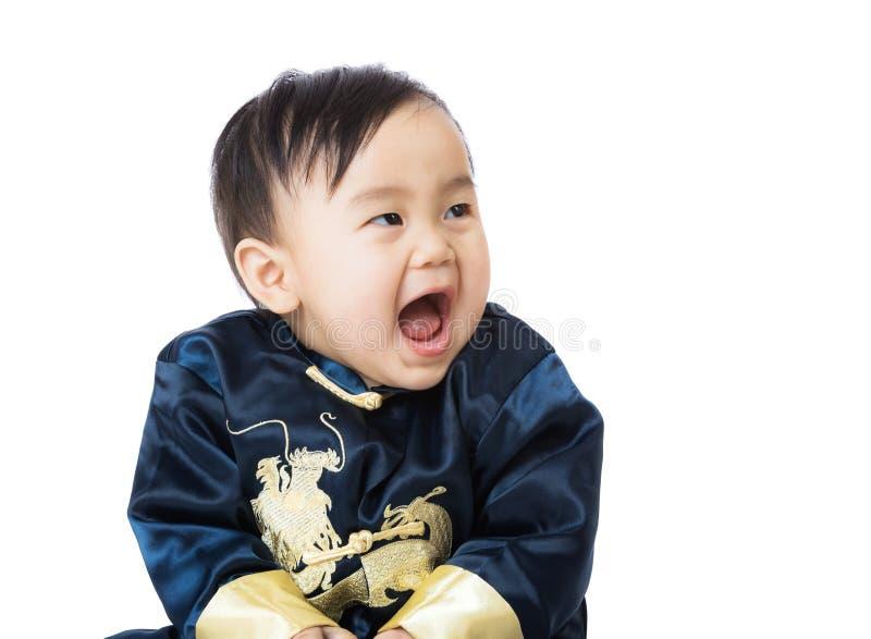 Κινεζικό μωρό giggle στοκ φωτογραφία με δικαίωμα ελεύθερης χρήσης