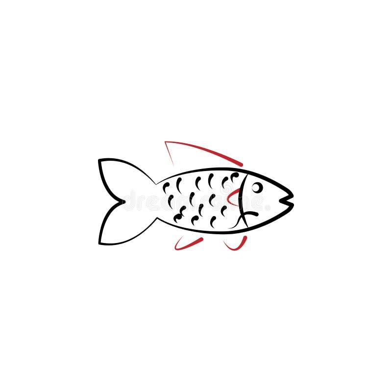 Κινεζικό νέο έτος, εικονίδιο ψαριών Μπορέστε να χρησιμοποιηθείτε για τον Ιστό, λογότυπο, κινητό app, UI, UX ελεύθερη απεικόνιση δικαιώματος