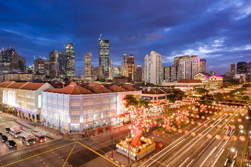 Κινεζικό νέο έτος Chinatown στοκ εικόνες
