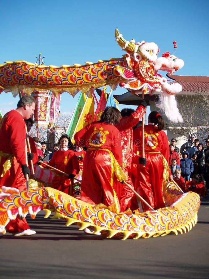 κινεζικό νέο έτος performace στοκ εικόνες